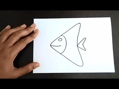 how to draw a fish easy and simple drawing for kids learn to draw a fish