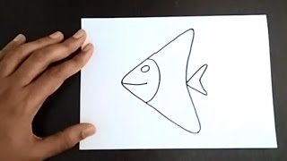 easy fish simple drawing draw learn