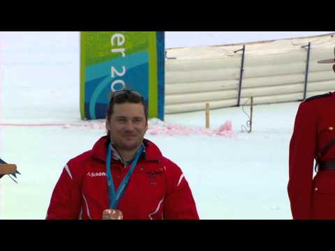 Super combined medals ceremony - Alpine skiing - Vancouver 2010 Winter Paralympics