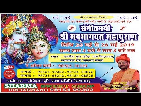 Day-2 | Shrimad Bhagwat Mahapuran Katha | By Sri Ravinandan Shastri Ji | Kishangarh 21-05-2019