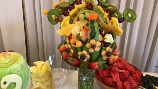 Оформление фруктового стола на свадьбе. Wedding decorating of fruits and desserts