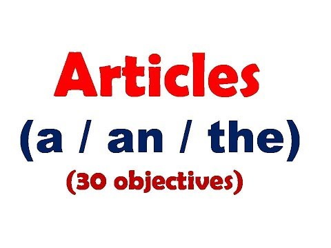 Articles 30 Practice Questions