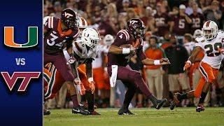 Miami vs. Virginia Tech Football Highlights (2016)