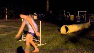 Adina Agility: Tire-jump-tunnel-jump-chute-table