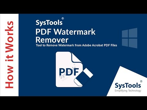 SysTools PDF Watermark Remover | Delete PDF Watermarks Easily!
