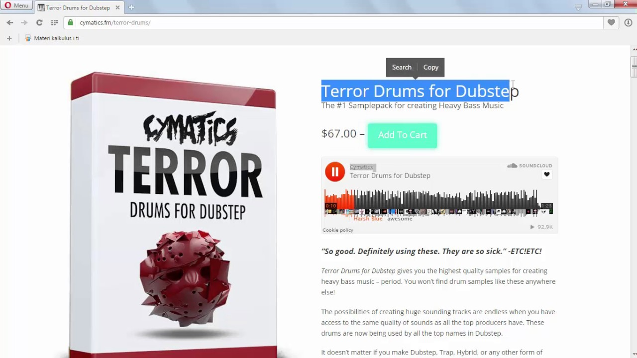 Cymatics Terror Drums for Dubstep + Bonuses (Free Download) (TAKEN DOWN)