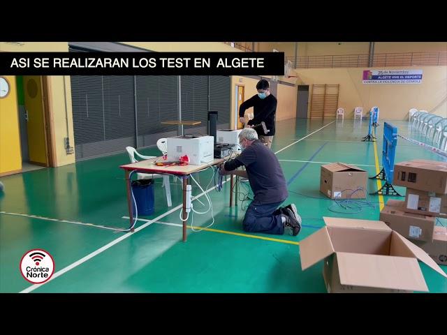 VIDEO: ASÍ se van a realizar los test masivos de antígenos en Algete.  (En detalle)