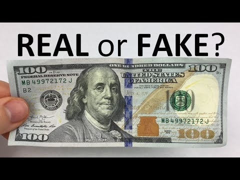 How To Tell If A $100 Bill Is REAL Or FAKE