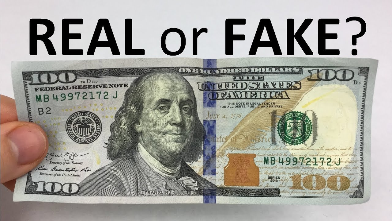 How To Tell If A 100 Bill Is Real Or Fake Youtube