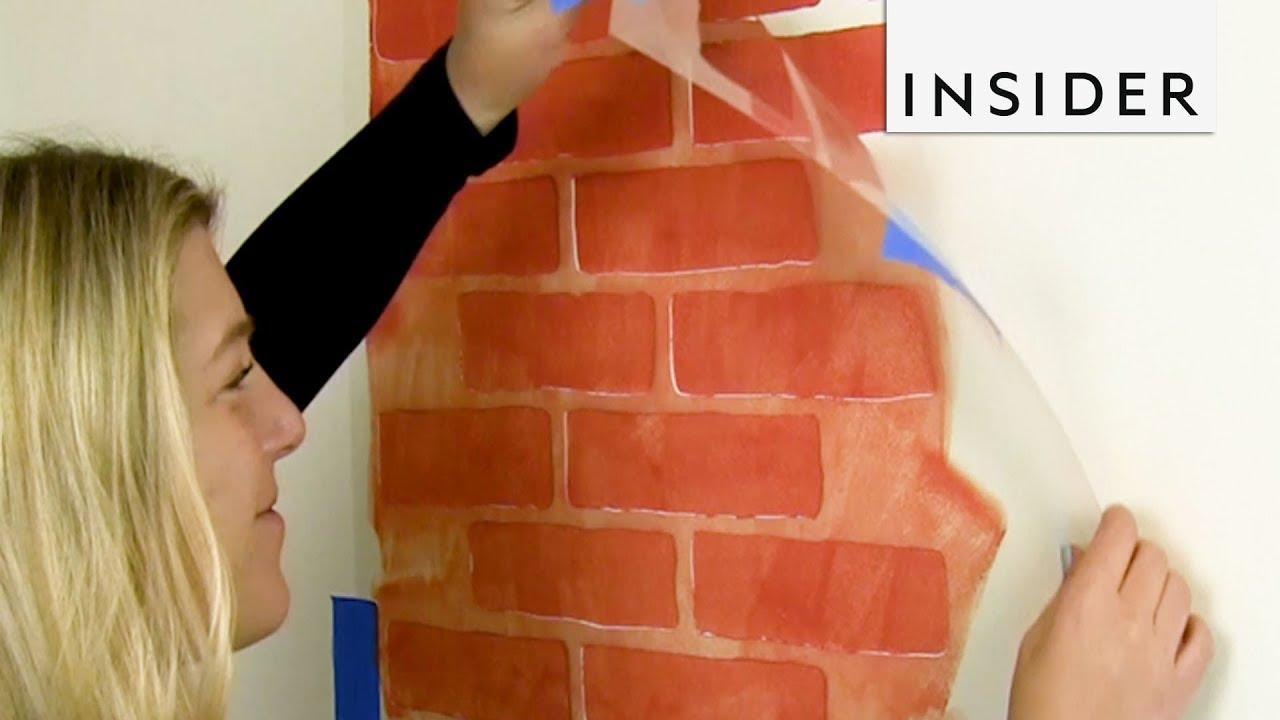 Create Brick Walls With Stencil Youtube