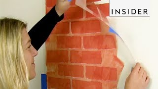 Create Brick Walls With Stencil