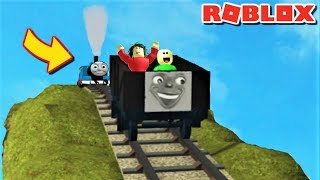 RIDING DOWN 7,777,777MILES WITH THOMAS AND FRIENDS (ft. Baldi & Playtime) | Roblox