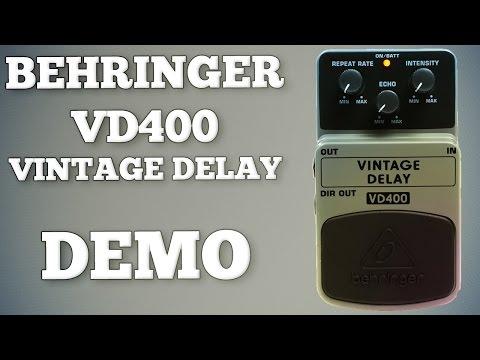 Behringer VD400 Vintage Delay Demo