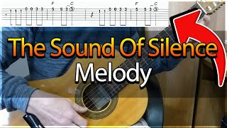 Guitar Lesson The Sounds Of Silence Simon Garfunkel Easy Guitar Melody Tutorial TAB