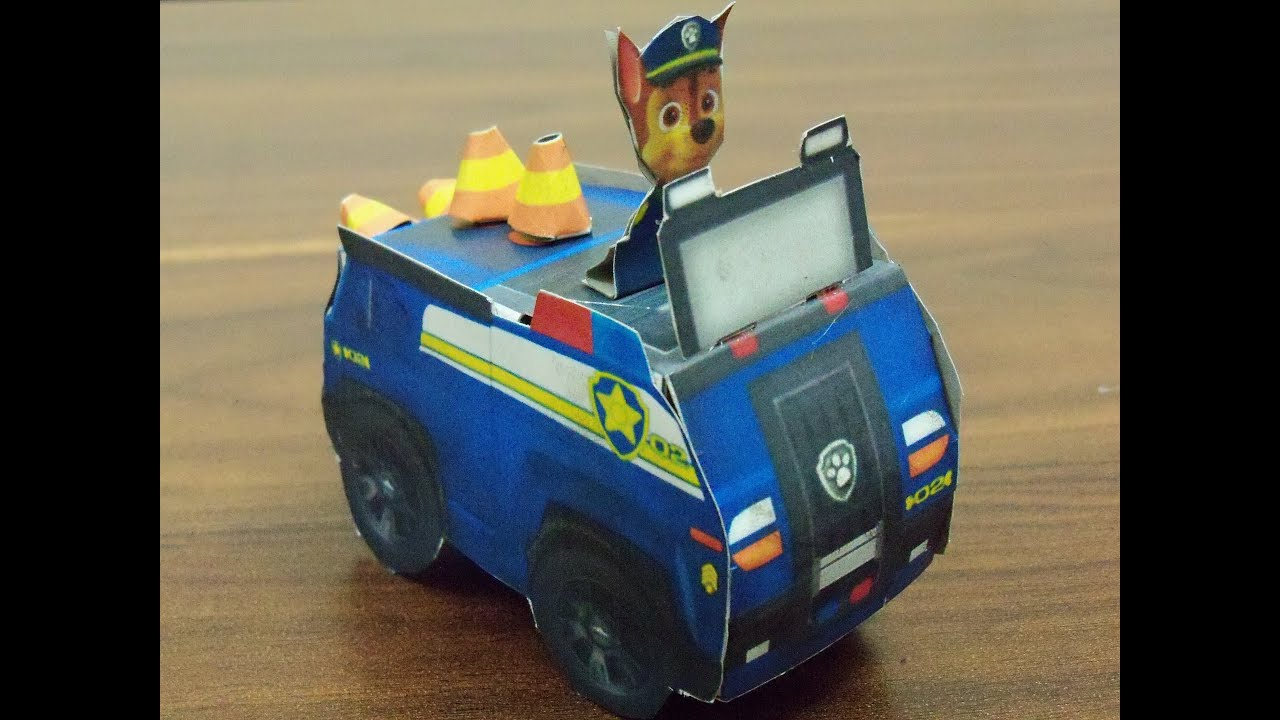 Paw Patrol Chase Paper Vehicle Toy