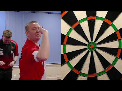 BULL UP: Defending champion Glen Durrant will throw first in his semi final Jim Williams