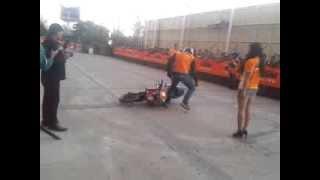 KTM Stuntshow Noida Monty crash