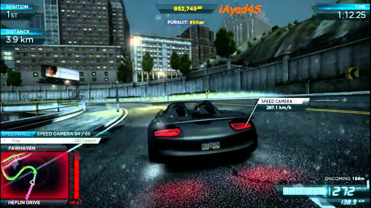 need for speed most wanted porsche 918 spyder concept most wanted 4 lamborghini aventador hd. Black Bedroom Furniture Sets. Home Design Ideas