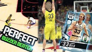 NBA 2k17 MyTeam - Diamond Larry Bird Perfect Half Court Buzzer Beater! John Wall Nasty Ankle Breaker