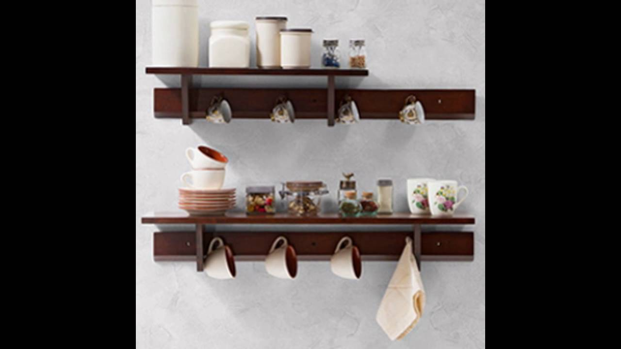 wall mounted kitchen shelves scrubber youtube