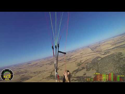 Paragliding with thermals and telemetry