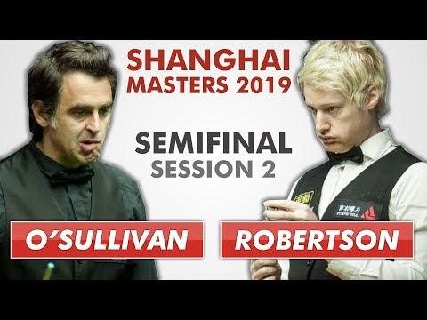O'Sullivan vs Robertson | Shanghai 2019 Full Match S2 | 50 fps