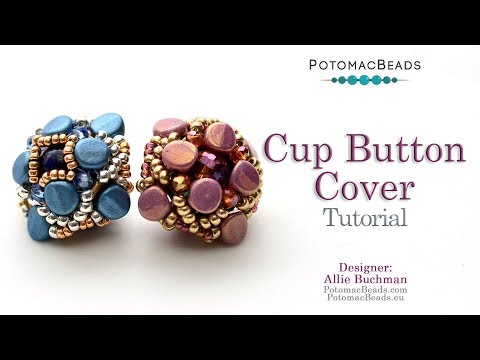 Cup Button Cover - DIY Jewelry Making Tutorial by PotomacBeads thumbnail