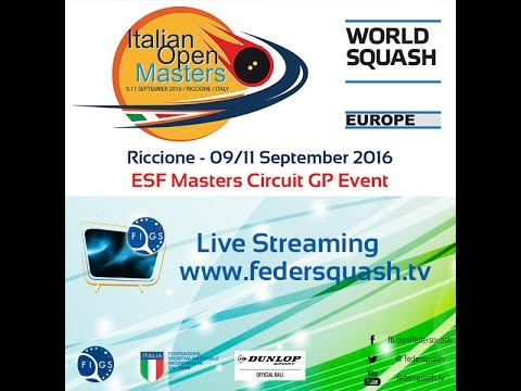 2016 - Squash - Italian Open Masters - Day 1