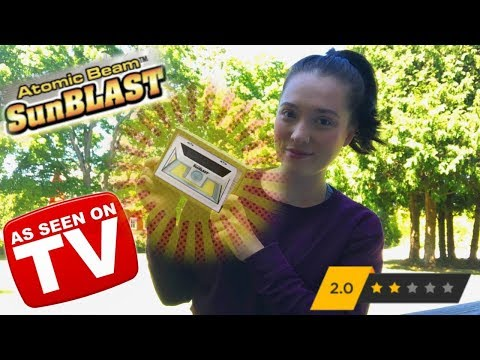 Atomic Beam SunBlast Review: As Seen on TV ʘ‿ʘ