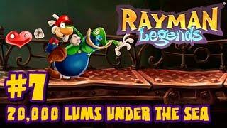 Rayman Legends Wii U - (2048p) Co Op - Part 7 - 20,000 Lums Under the Sea
