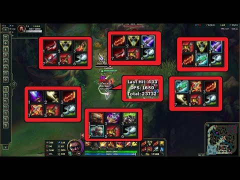 [PBE] Xin Zhao rework builds DPS / Sustain tests