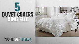 Top 10 Duvet Covers King Size [2018]: KingLinen White Down Alternative Comforter Duvet Insert (King,