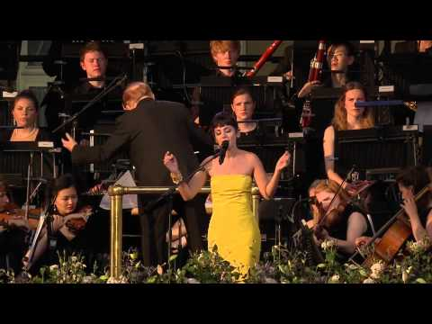 "Katie Melua performing ""I Will Be There"" on The Queen's Coronation Festival Gala"