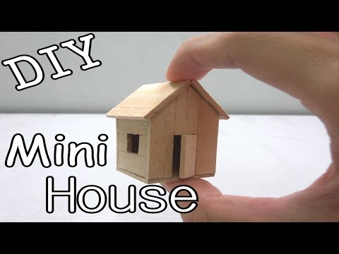 DIY Mini House #5 (Popsicle Sticks)