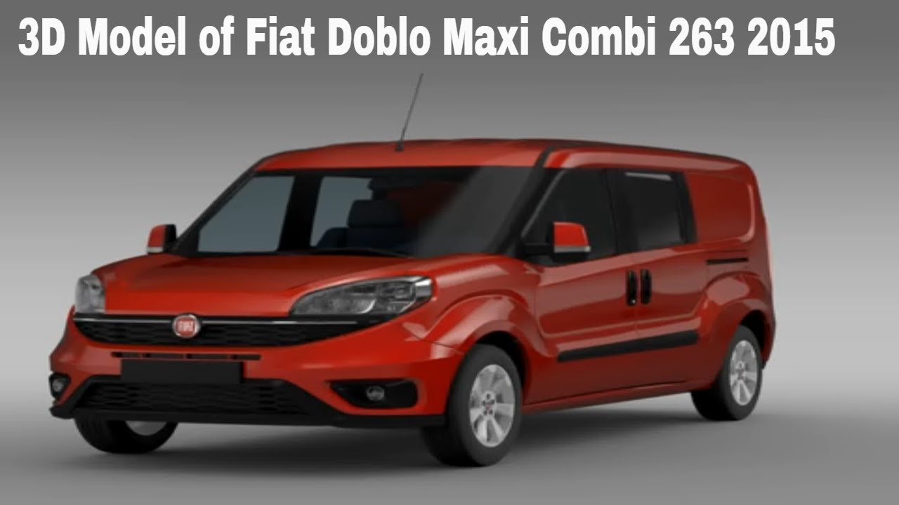 3d model of fiat doblo maxi combi 263 2015 youtube. Black Bedroom Furniture Sets. Home Design Ideas