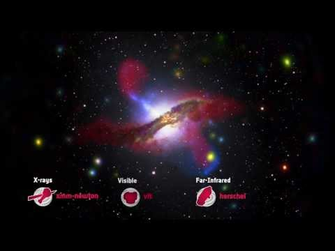 Centaurus A: The dark heart of a cosmic collision