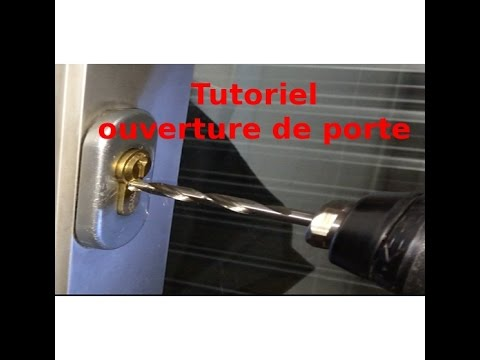 tutoriel ouverture de porte comment ouvrir un cylindre de serrure youtube. Black Bedroom Furniture Sets. Home Design Ideas
