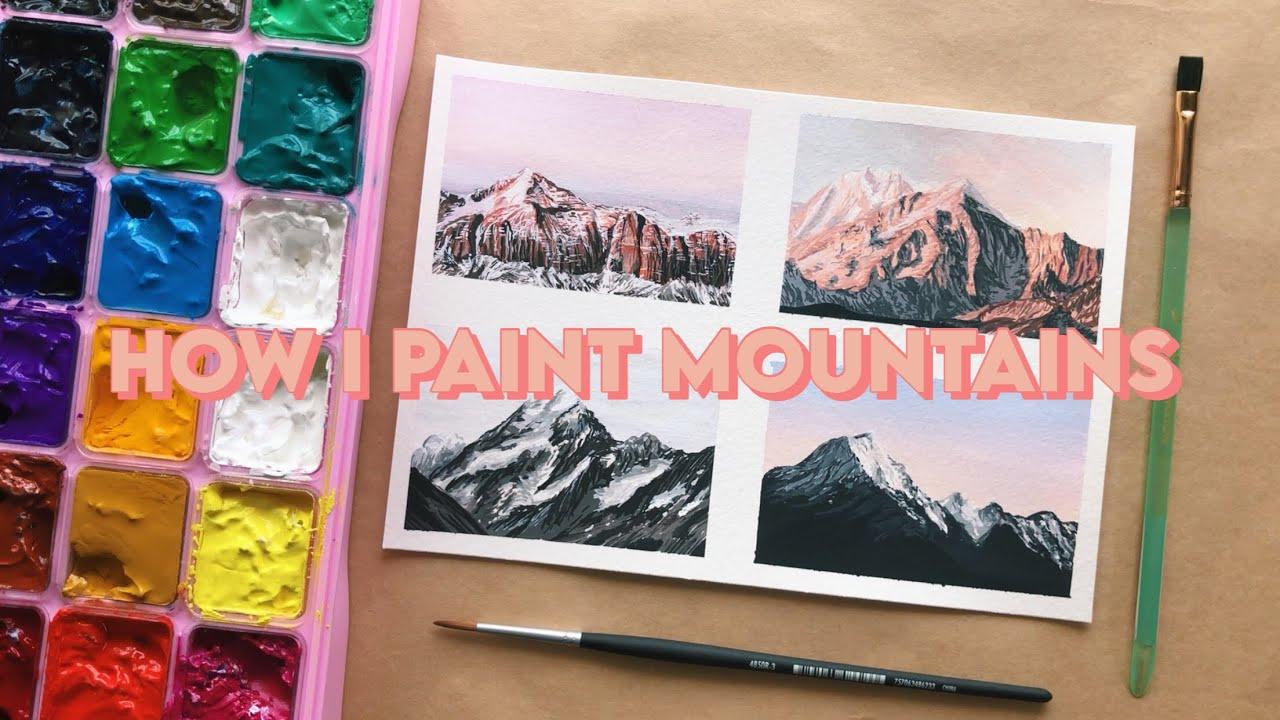 Gouache Mountain Studies