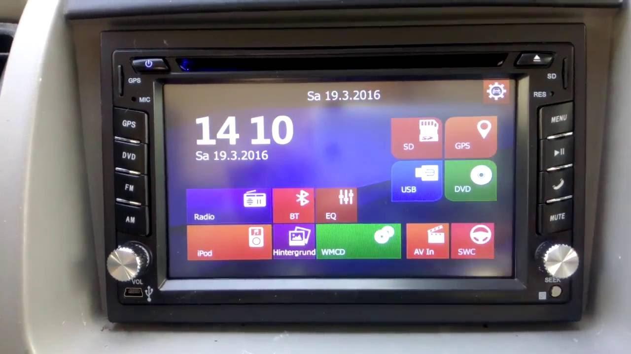 gps navigation hd 2din 6 2 inch car stereo dvd player bluetooth ipod mp3 tv camera youtube [ 1280 x 720 Pixel ]