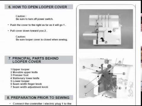 singer sewing machine 14sh644 14sh654 overlock operators manual rh youtube com singer overlocker manual download singer serger manual