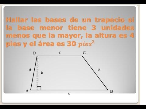 Geometria Bases De Un Trapecio Youtube