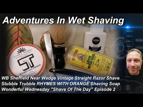 WB Vintage Straight Razor Shave, Shave Of The Day, Stubble Trubble, Wonderful Wednesday #SOTD Ep2