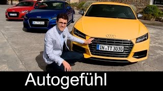 2015/2016 all-new Audi TT & Audi TTS Coupé review test drive with Ascari racetrack - Autogefühl