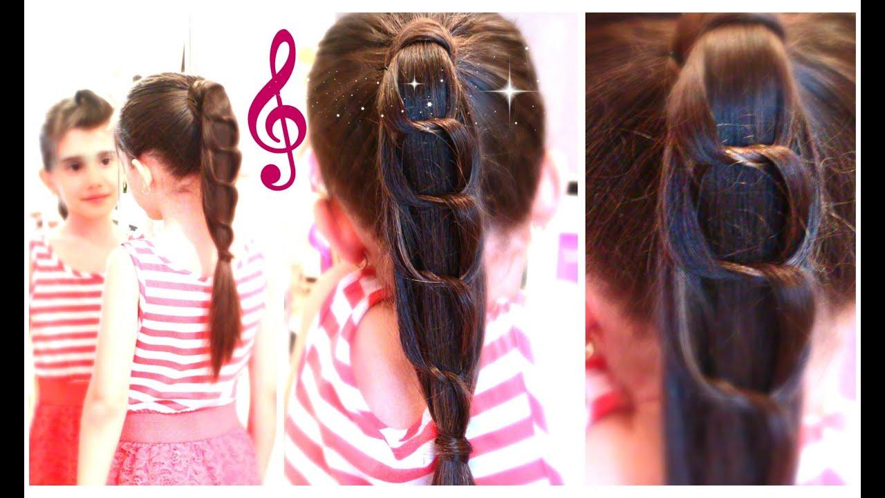 unique knotted chain ponytail
