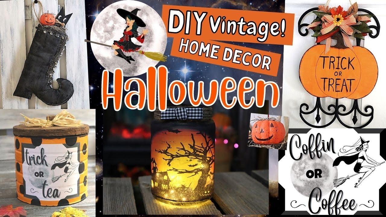🎃 Cute NOT CREEPY Halloween DIYS/Dollar Tree Halloween DIYS/Halloween Home Decor/Vintage Halloween