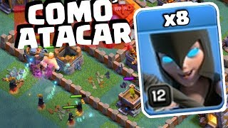 COMO ATACAR COM AS BRUXAS SOMBRIAS NÍVEL 12 NA BASE DO CONSTRUTOR 6 CLASH OF CLANS