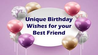 Birthday Wishes for Best Friend | Heart Touching Birthday Wishes for Best Friend