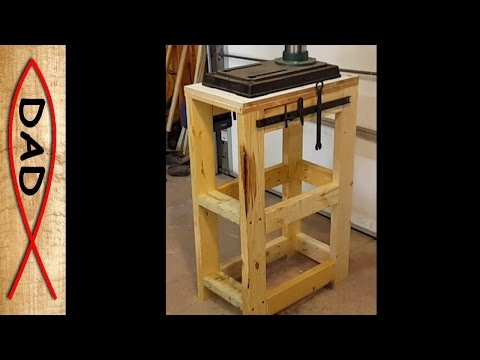 Easiest Drill Press Stand ever - 100% scrap wood