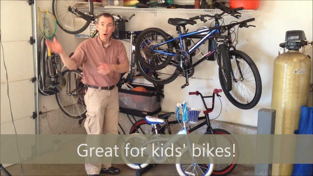 Garage Storage   Bike Stand For 2 Bikes   YouTube