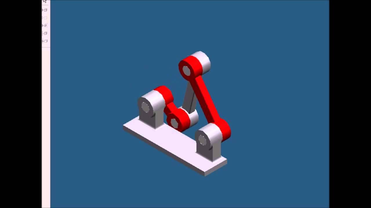 Crank Rocker four bar link Mechanism animation GJU YouTube